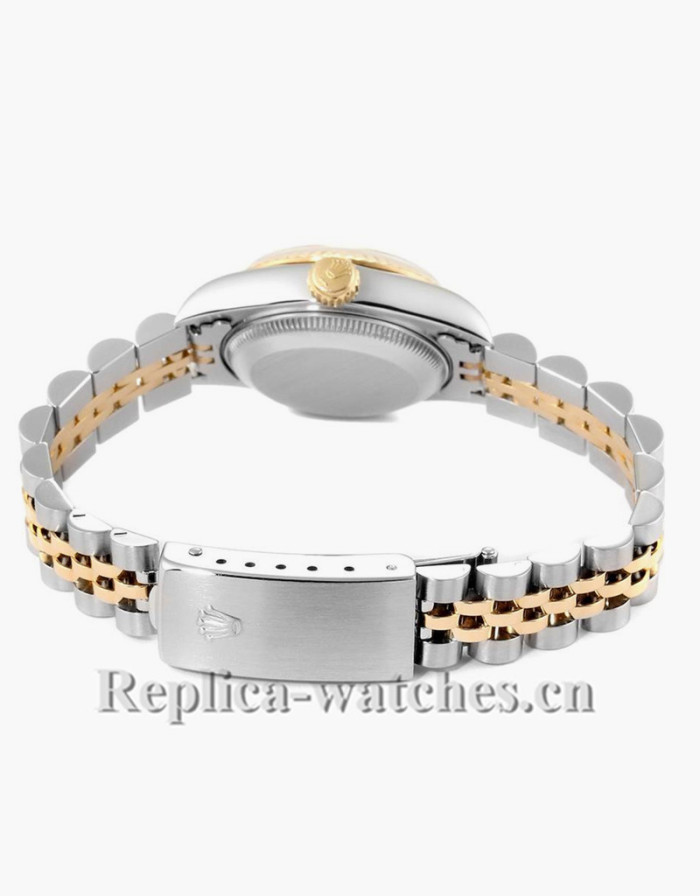 Replica Rolex Datejust 69173 Stainless steel oyster case 26mm Champagne dial Ladies Watch