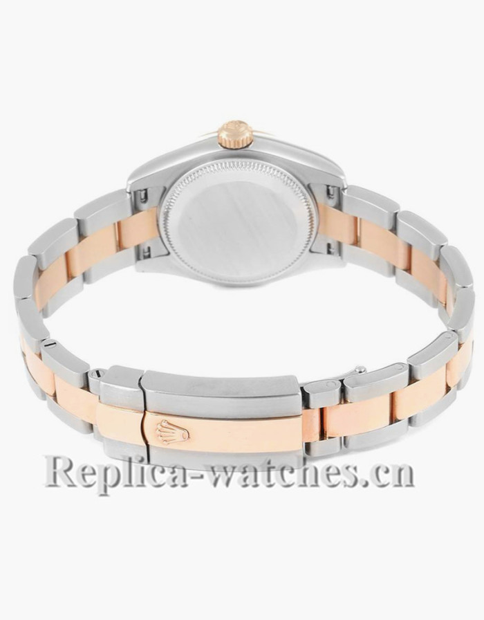 Replica Rolex Datejust 179161 Stainless steel oyster case 26mm Rose Diamond Ladies Watch