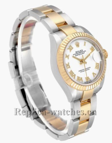 Replica Rolex Datejust 279173 Stainless steel oyster case 28mm White Dial Ladies Watch