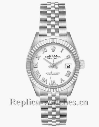 Replica Rolex Datejust 279174 Stainless steel oyster case 28mm White Dial Ladies Watch