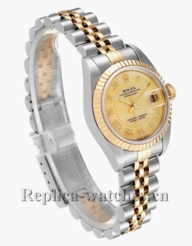 Replica Rolex Datejust 79173 Stainless steel oyster case 26mm MOP dial Ladies Watch
