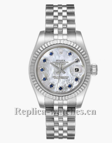 Replica Rolex Datejust 179174 Stainless steel oyster case 26mm MOP dial Ladies Watch