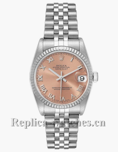 Replica Rolex Datejust 78274 Stainless steel oyster case 31mm Salmon Dial Ladies Watch