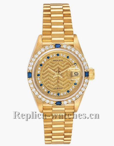 Replica Rolex President Datejust 69088 oyster case 26mm champagne dial Ladies Watch