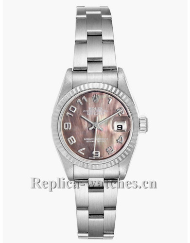 Replica Rolex Datejust 79174 Stainless steel oyster case 26mm Mother of Pearl dial Ladies Watch