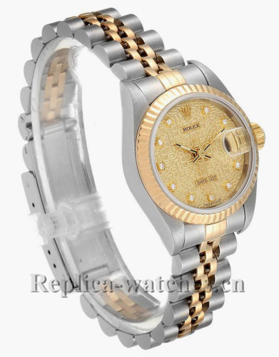 Replica Rolex Datejust 69173 Jubilee Dial Stainless steel oyster case 26mm Diamond Ladies Watch