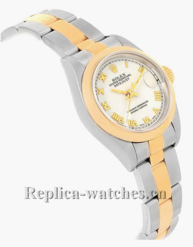 Replica Rolex Datejust 69163 Stainless steel oyster case 26mm White dial Ladies Watch
