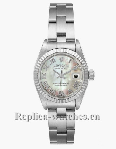 Replica Rolex Datejust 69174 Stainless steel oyster case 26mm MOP Dial Ladies Watch