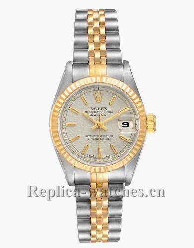Replica Rolex Datejust 69173 Fluted Bezel 26mm Ivory jubilee anniversary dial Ladies Watch