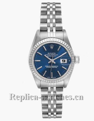 Replica Rolex Datejust 79174 Stainless steel oyster case 26mm Blue Dial Ladies Watch