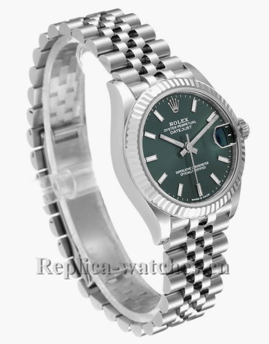 Replica Rolex Datejust Midsize 278274 Stainless steel oyster case 31mm Green Dial Ladies Watch