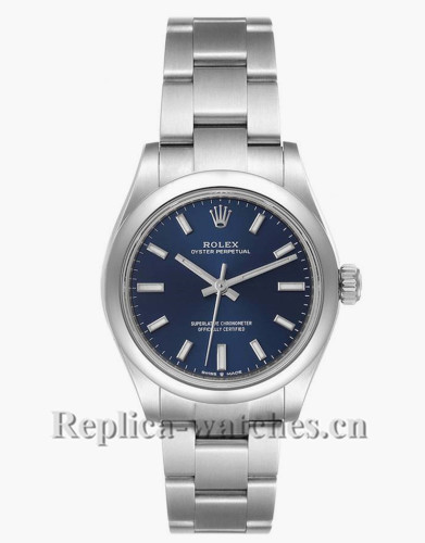 Replica Rolex Datejust Midsize  277200 Stainless steel oyster case 31mm Blue Dial Ladies Watch