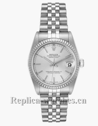 Replica Rolex Datejust Midsize 78274 Stainless steel oyster case 31mm Silver Dial Ladies Watch