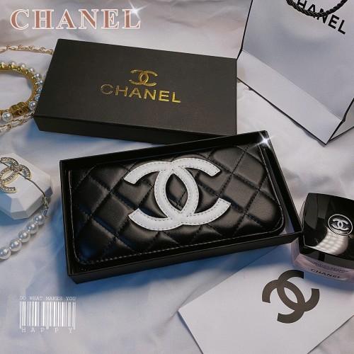 シャネル ロングウォレット CHANEL 長財布 ブラック Chanel 財布 クラシック かわいい 有名人愛用 人気商品