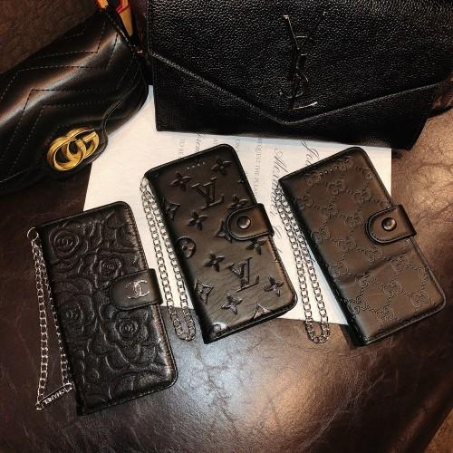 シャネル iPhone13ケース チェーン付き iPhone13Pro/13ProMaxケースヴィトン グッチ iPhone12Pro/12/11Pro/11/XS/XR/SE2/8/7Plusケース 手帳 ブランド Chanel Louis Vuitton Gucci アイフォンケース レザー製 一品