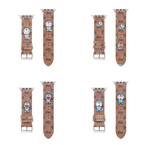 グッチ ドラえもん スペシャル コラボ 時計バンド 替えベルト GUCCI コラボ ウォレットベルト 38mm 42mm 40mm 44mm Apple Watchバンド かわいい 並行輸入品