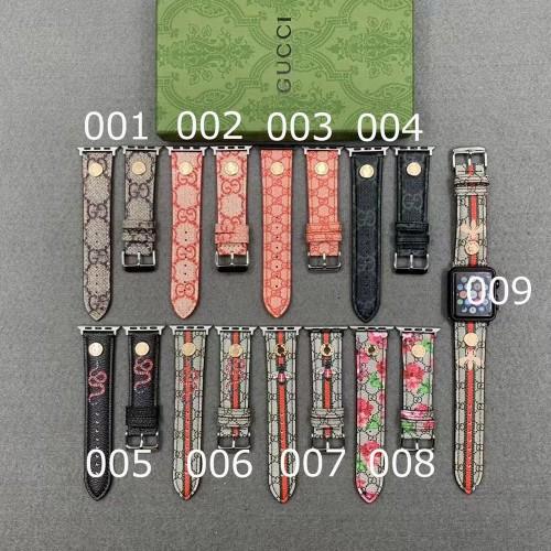 グッチ 時計ベルト バンド Apple Watch 替えベルト ビー スネーク フラワー 図案 GGスプリーム キャンバス GUCCI アップルウォッチ替えベルト バンド ブランド 限定 並行輸入品