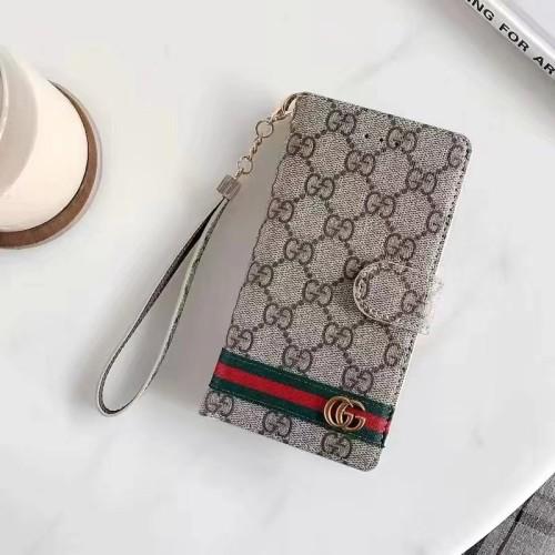 グッチ スマホケース 手帳型 GGスプリーム キャンバス iPhoneケース Galaxyケース 通用カバー お洒落