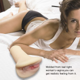 Realistic Vagina Male Masturbator Pocket Pussy Flesh Adult Sex Toys