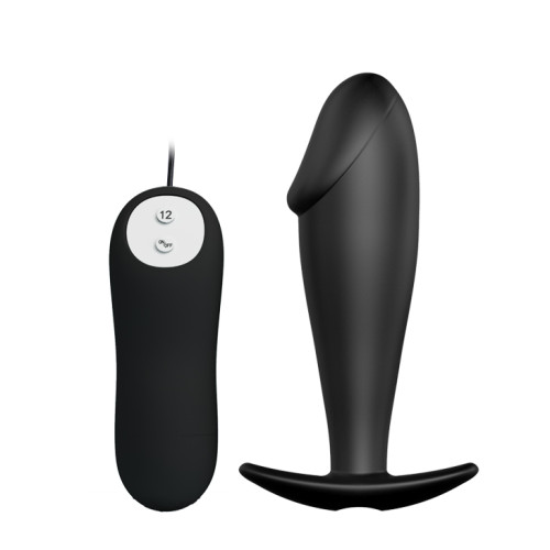 12 Speed Vibrating Silicone Anal Plug