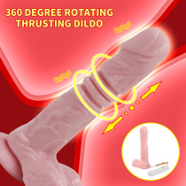 Multi-Speed Rotating Thrusting Dildo With Suction Cup