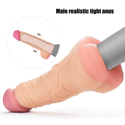 GAY Couple Adult Female Masturbator Real Penis Dildo Extender Anal Penis Sex Toy