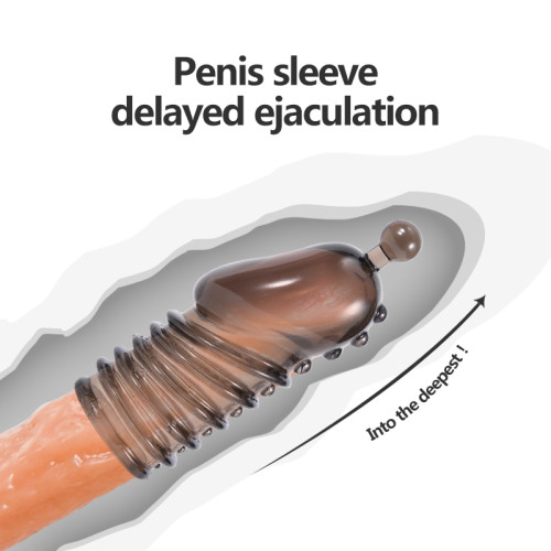 Penis Extension Sex Toy Cock Ring Delay Ejaculation Condom Penis Sleeve