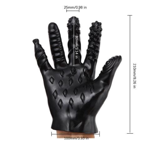 Masturbation Vagina Anal Stimulator Plam Finger Erotic Sex Glove Toy For Couples