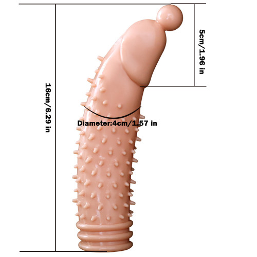 Penis Extension Extender Vibrating Penis Sleeve Cock Cage Male Sex Toys Vibrator
