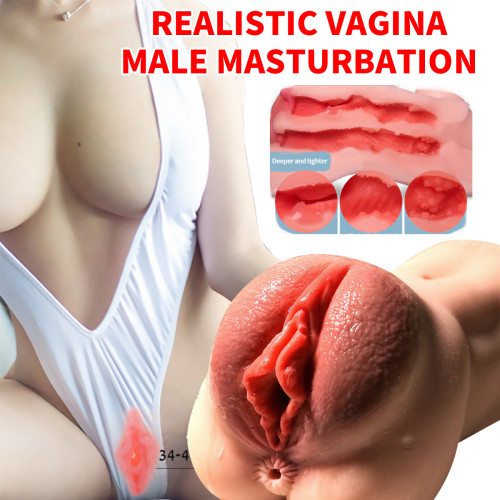 Realistic Vagina Male Masturbation Sex Toy Mens Pocket Pussy Masturbator