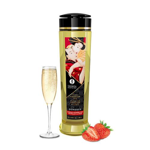 Shunga Massage Oil Romance Sparkling Strawberry Wine 240ml