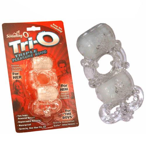 Screaming O Tri-O Vibrating Pleasure Cock Ring