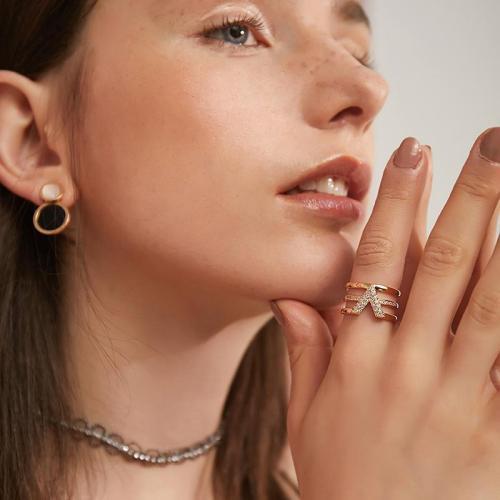Modern Crystal Ring