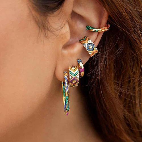 Boho Rainbow Rhinestone Earrings