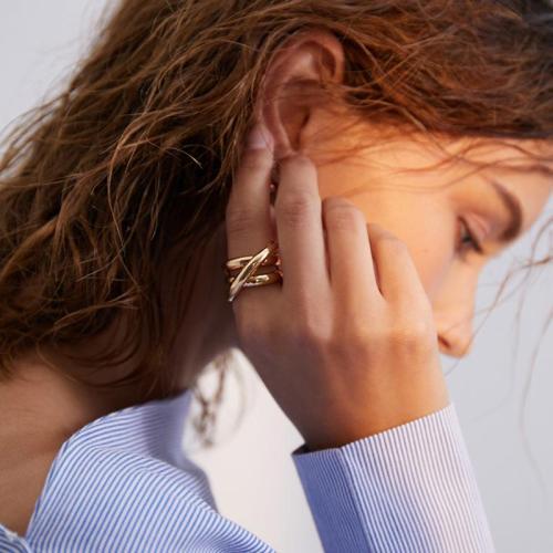 Minimalist Style Cross Ring