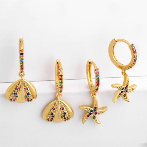 Ocean Style Gemstone Earrings