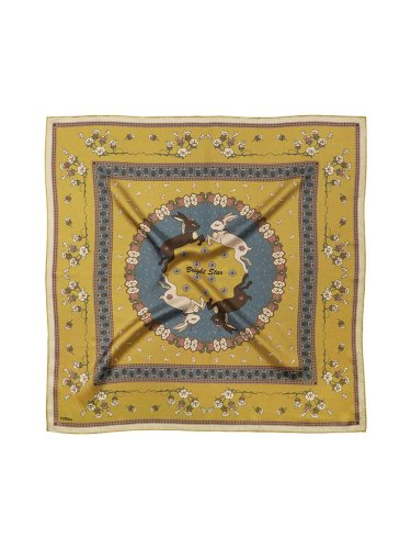 Chowxiaodou 16 Momme Large Square Slik Twill Scarf 110*110