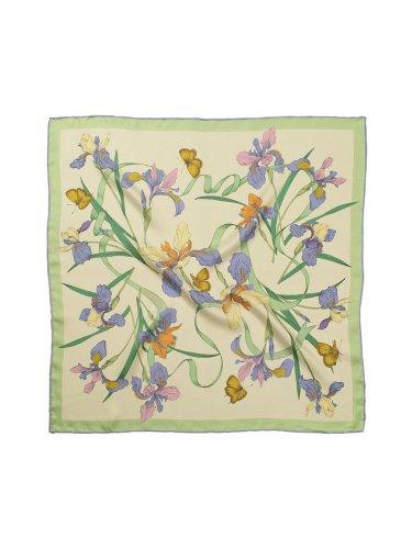 Chowxiaodou 16 Momme Iris Silk Twill Small Square Scarf 65*65