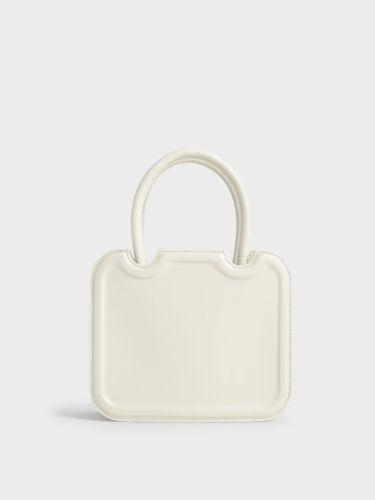 Double Handle Sculptural Tote Bag