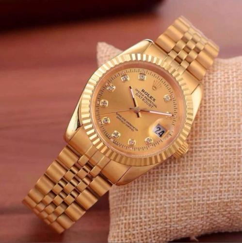 NEW Hot high quality Rolex Mens Womens Quartz Watch Fashion Gift Gold Casual Waterproof Watches 9579 Orders