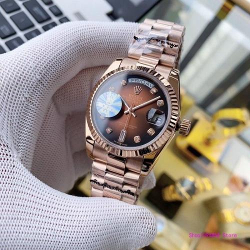 Daydate Series Ladies Gift Men's Automatic Mechanical Watch Stainless Steel Waterproof Casual Watch