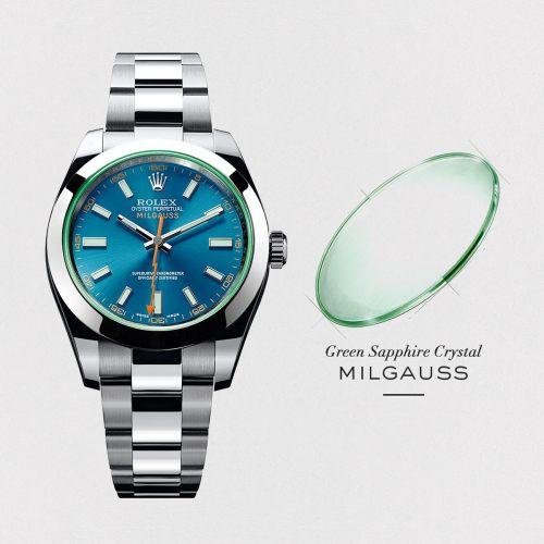 Luxury Brand Milgauss Blue Men Stainless steel  Automatic Mechanical Watch