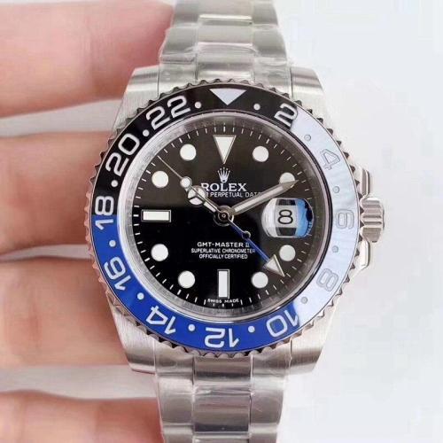 Luxury GMT-II Drive Ceramic Bezel Men Stainless Steel Automatic Mechanical Watch