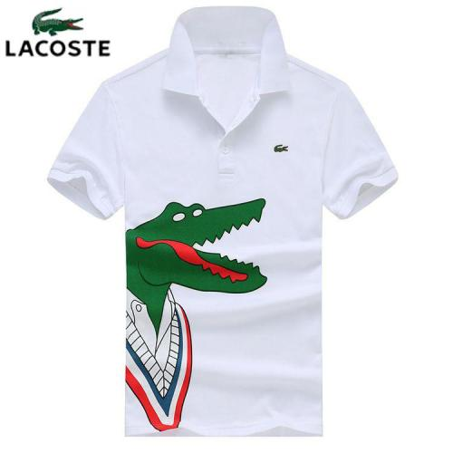 LACOSTE 100% cotton LOGO side embroidery Men Short Sleeved Polo Tshirt