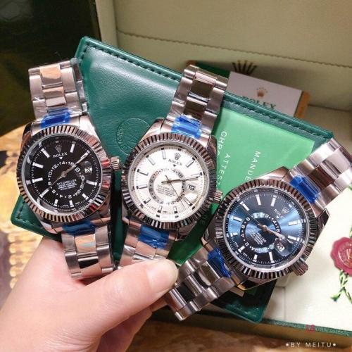 Rolex men Men's Quartz sky Watch fashion Luxury brand Gift gold Casual Waterproof Designer watches 1059 Orders