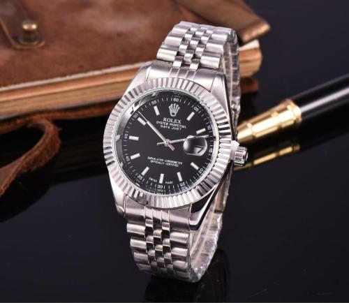 NEW Hot high quality Rolex Mens Womens Quartz Watch Fashion Gift Gold Casual Waterproof Watches 9826 Orders