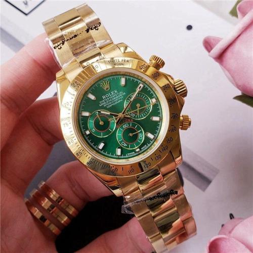 40mm Luxury Brand Daytona Gold Men Women Stainless Steel Automatic Mechanical Watch