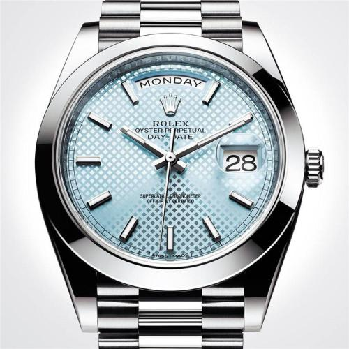 40MM Luxury Brand Blue Daydate Men Stainless Steel Mechanical Watch