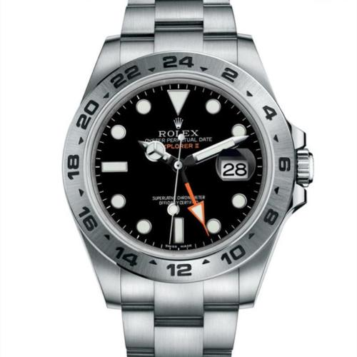 Luxury Brand White Black EXPOLORER II Men Stainless steel mechanical watch