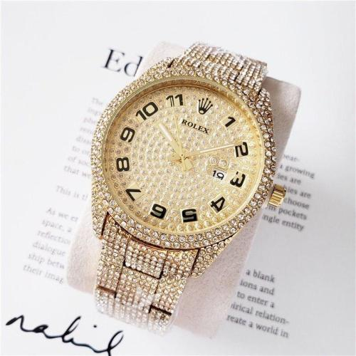 2021 NEW Hot Rolex- Mens Womens Quartz Watch Fashion Gift Gold Casual Waterproof Watches 2579 Orders
